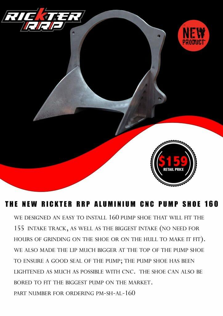 RICKTER-RRP ALUMINIUM CNC PUMP SHOE 168