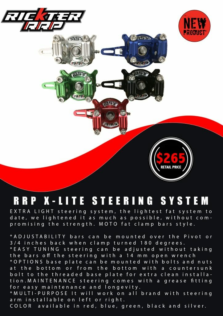 RICKTER-RRP X-LITE STEERING SYSTEM PRESS RELEASE